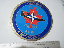 NATO CANADIAN AWAC AEW CONTINGENT STICKER E-3A adhesive Airborne Early Warning
