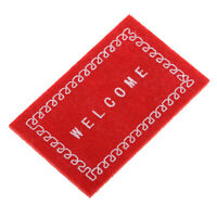 "Welcome Mat /""Boot Welcome/"" 1:12 Carpet Rug Texas House Door House Cowboy Mini"