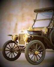 A Ford Sport Model T 1 Vintage Antique Car Classic Carousel Black Metal Rare 18