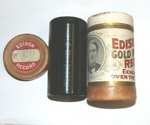 """MINTY EDISON PHONOGRAPH CYLINDER RECORD #8736 , """" TWO RUBES AT THE VAUDEVILLE """""""