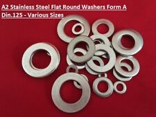 STAINLESS STEEL FLAT WASHERS FORM A THICK A2 for Bolts Screws M6 M8 M10 M12 M16
