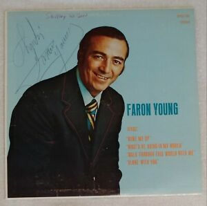 1972 FARON YOUNG FARON YOUNG SINGS ST DYCS-105 SIGNED PRIVATE OOP VG+ RARE VHTF