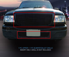 Black Billet Grille Grill Combo Insert For 2004-2005 Ford Ranger Full Openning