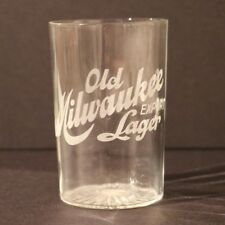 Old Milwaukee Export Lager Beer Panel Etched Glass - Canada