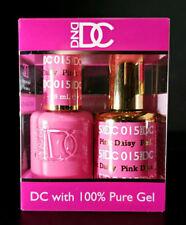 DND DC Soak Off Gel Polish Pink Daisy 015 LED/UV 6oz 18ml Gel Duo Set NEW