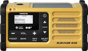 Sangean Survivor DAB Outdoorradio DAB+, UKW USB Akku-Ladefunktion, Taschenlampe,