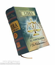 "signo Libra new collectible small 2.65"" tall mini book easy to read hardcover"