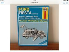 Haynes manual for Ford Fiesta petrol Aug 1983 to Feb 1989 957cc
