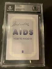 1994 MUHAMMAD ALI  SIGNED ''AIDS HOW TO AVOID IT'' PAMPHLET BECKETT SLABBED