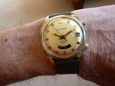 Bulova Accutron 2185 Astronaut Mk2 Dual Time Tuning Fork Watch Gold Filled 1970.
