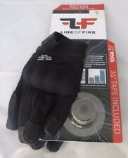 LINE OF FIRE RECON TOUCH SCREEN GLOVES COMBAT HARD KNUCKLE BLACK , SIZE S