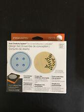 Fiskars Fuse Creativity System Die & Letterpress Plates NEW 0078 Circle Button