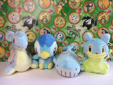 Pokemon Plush Lapras Piplup Shellos Wailord  Marine Stuffed doll figure Set Lot