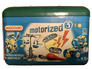 Meccano Motorized Construction Kit 10 Models Age 5+ COMPLETE