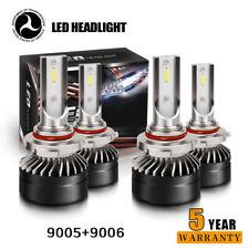 Combo 9005+9006 LED Headlight Hi-Low Beam Bulb For 94-98 GMC C10 Sierra Yukon