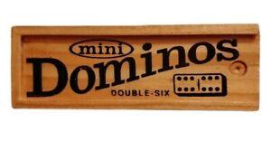 MIni Dominoes Double Six Set in Wooden Box