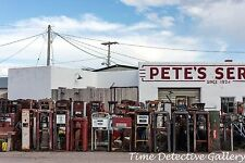 Old Gas Pumps at Thrift Store, Pine Buffs, Wyoming - Giclee Photo Print