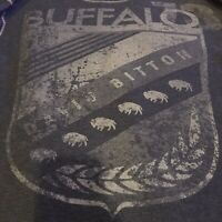 Buffalo David Bitton Shirt Mens Size XL Gray 65%Cotton 35%Polyester Long Sleeve