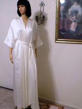 LUCIE ANN vintage BRIDAL IVORY SATIN Polyester PEIGNOIR SET size L large