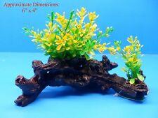 "PLASTIC PLANT W HEAVY BASE 526121 4"" H x 6"" AQUARIUM DECORATION"
