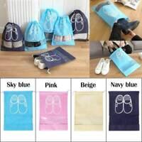 2 Color Portable Travel Shoe Bag Zip View Window Pouch Storage Waterproof Bags