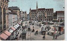 Cartolina - Postcard - Illustrata - Berlin - Spittelmarkt - animata - anni '30