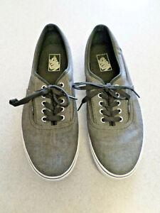 VANS dark gray canvas skateboarding shoes. Men's 11.5