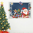 2022 Christmas Wall Stickers Santa Claus Stickers Home Decor Bedroom Postf~