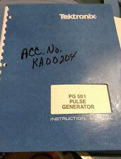 Tektronix PG501 PG 501: Pulse Generator Instruction Manual w/schematics