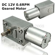 DC 12V 2~3W Low Speed 0.6RPM/Min High Torque Turbo Worm Geared Motor 370 Motor
