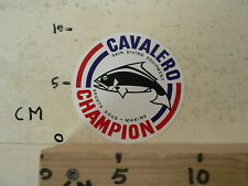 STICKER,DECAL CAVALERO SKIN DIVING EQUIPMENT SPORT SOUS MARINS CHAMPION VIS