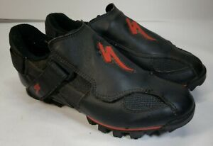 Specialized Ground Control Shoes Black Red Sz 39 Mountain Bike Cycling us 6 vtg