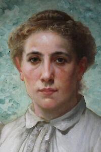 Bildnis einer jungen Frau Öl auf Holz, Damenportrait um 1900