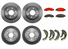 Brembo Brake Kit Front Disc Rotors Ceramic Pads & Rear Drums Shoe For Chevy GMC