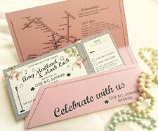 SAMPLE Wedfest Shabby Chic Rose Music Wedding Invitations With Wallets!