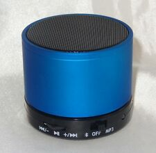 Bluetooth Stereo Lautsprecher Speaker Wireless Musik SD MP3 FM Radio Handy Blau
