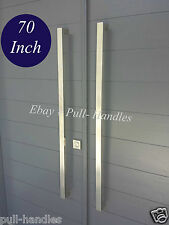 "Entry Front Door Long Door Pull Handle 70"" Stainless Steel Entry Modern Barn"