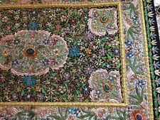 3ft X 2ft Hand Woven Jewelled Carpet Wall Hanging Kashmir Zardozi Embroidery