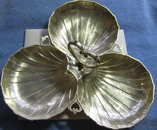 Concord Silversmiths Section Shell Serving Dish in Sterling Silver