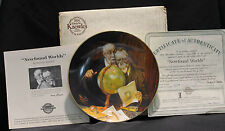 Edwin M. Knowles Newfound Worlds Rockwells Golden Moments Collector's Plate