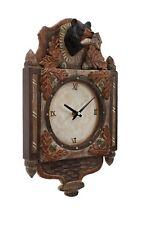 Black Bear Wood Carving 3D Wall Clock Cabin Rustic Decor