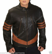 Zip Faux Leather Collared Coats & Jackets for Men