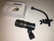 CAD TSM411 Microphone For Snare Drum Tom Toms Cajon Bongo+Audix D-clamp Rim Clip