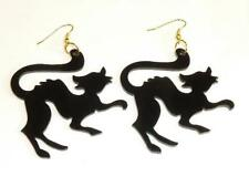 PAIR OF SCARY BLACK CAT EARRINGS - FREE UK P&P.........CG1339