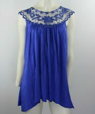 Simply Irresistible Floral Lace Top Blue - Medium