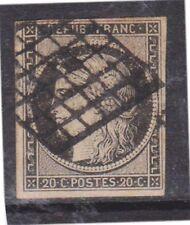 (K130-3) 1849 France 20c black CERES (C)