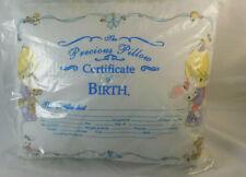 "Precious Moments Keepsake Pillow 9 x 13"" Certificate of Birth Luv N Care Nip"