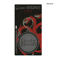 Official GAME OF THRONES Rubber Keyring Keychain Gift LOGO Round