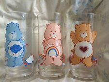 Vintage Care Bears Pizza Hut 1983 Glass Set Excellent Condition Clean 80s Toys