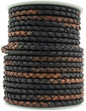 Xsotica® Gypsy Sippa Round Bolo Braided Leather Cord 3 mm 1 Meter (3.28 Feet)